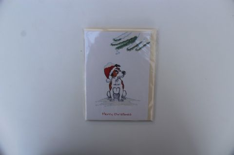 JACK RUSSELL CHRISTMAS GREETINGS CARD CARTOON